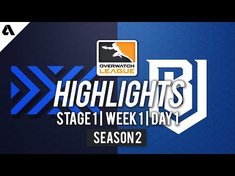New York Excelsior vs Boston Uprising | Overwatch League S2 Highlights - Stage 1 Week 1 Day 1