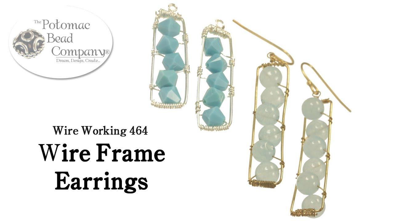Make Wire Frame Earrings - YouTube
