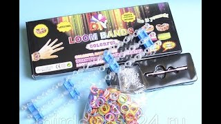 Станок Rainbow Loom для плетения браслетов из резинок, обзор и распаковка