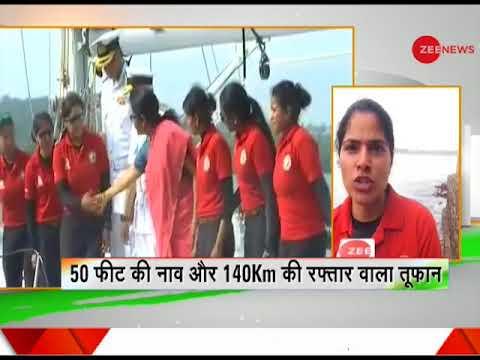 Deshhit: Around the world in 254 days: All-women crew of INS Tarini reach Goa today