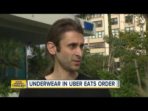 Kelsi - South Florida Uber Eats Driver Gives Guy Dirty Underwear With Order