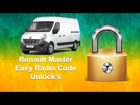 How To Find Renault Master Radio Code Using Serial No.