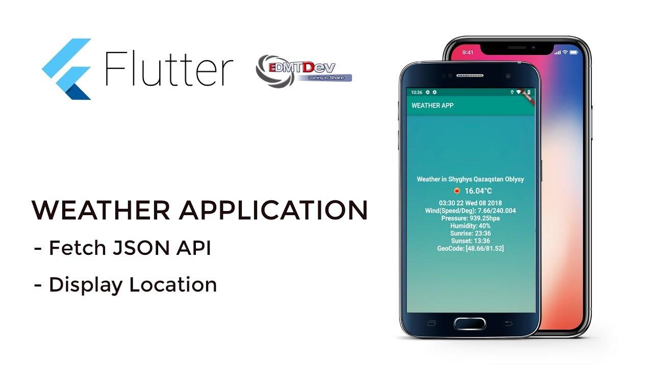 Flutter Tutorial - Weather App part 2 Display Weather Information