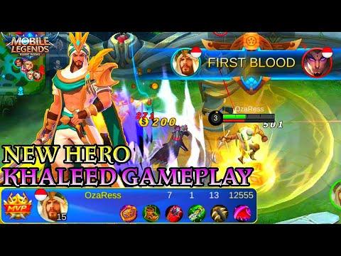 New Hero Khaleed Gameplay - Mobile Legends Bang Bang