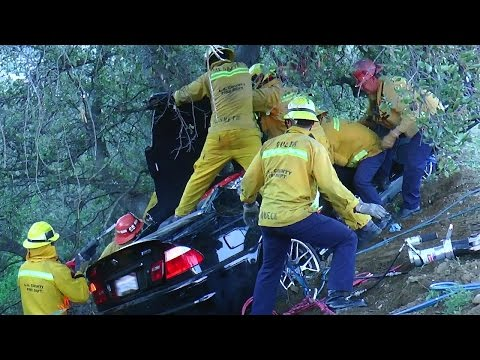 L.A. County Fire Dept. Rescue - Feb 21, 2016
