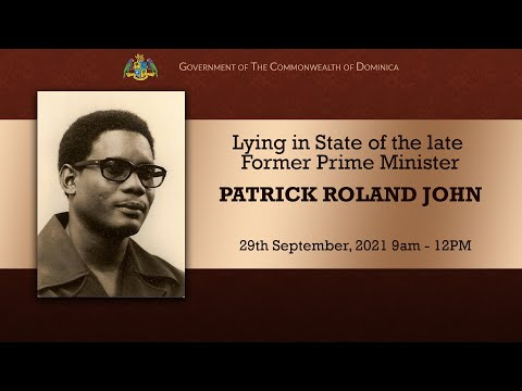 Lying in State of the late Former Prime Minister Patrick Roland John