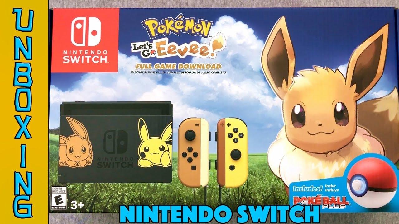 Unboxing Nintendo Switch Pokemon Let S Go Eevee Bundle New Joy