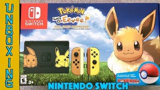 UNBOXING! Nintendo Switch Pokemon Let's Go Eevee Bundle - NEW Joy-Cons! #Pikachu