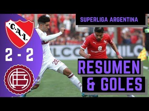 RESUMEN Y GOLES | INDEPENDIENE 2 - 2 LANUS | SUPERLIGA ARGENTINA FECHA 6
