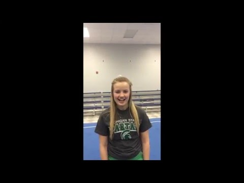 Brooke Allen Michigan State Tryout Video