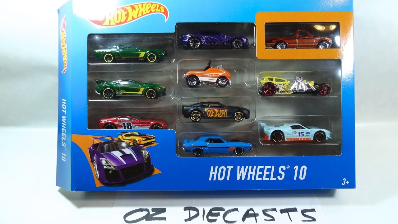 2016 Hot Wheels 10 pack review with Datsun 620 exclusive and Ford GT ...