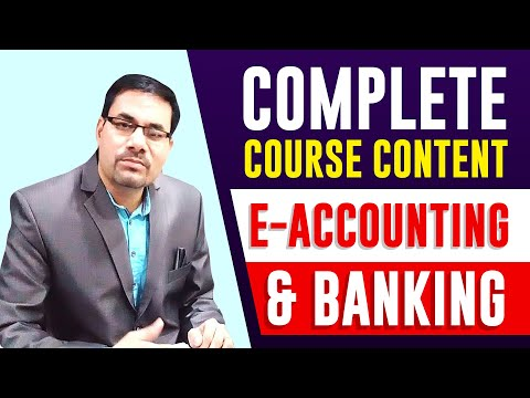 Professional DIPLOMA IN E-ACCOUNTING & BANKING | E-Accounting & Banking Course |  accounting Course