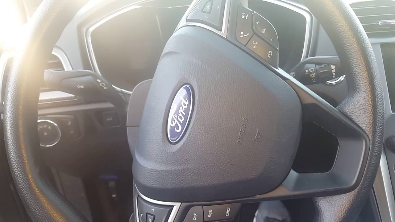 2013-2015 FORD FUSION LEFT DRIVER SIDE STEERING WHEEL AIRBAG BLACK