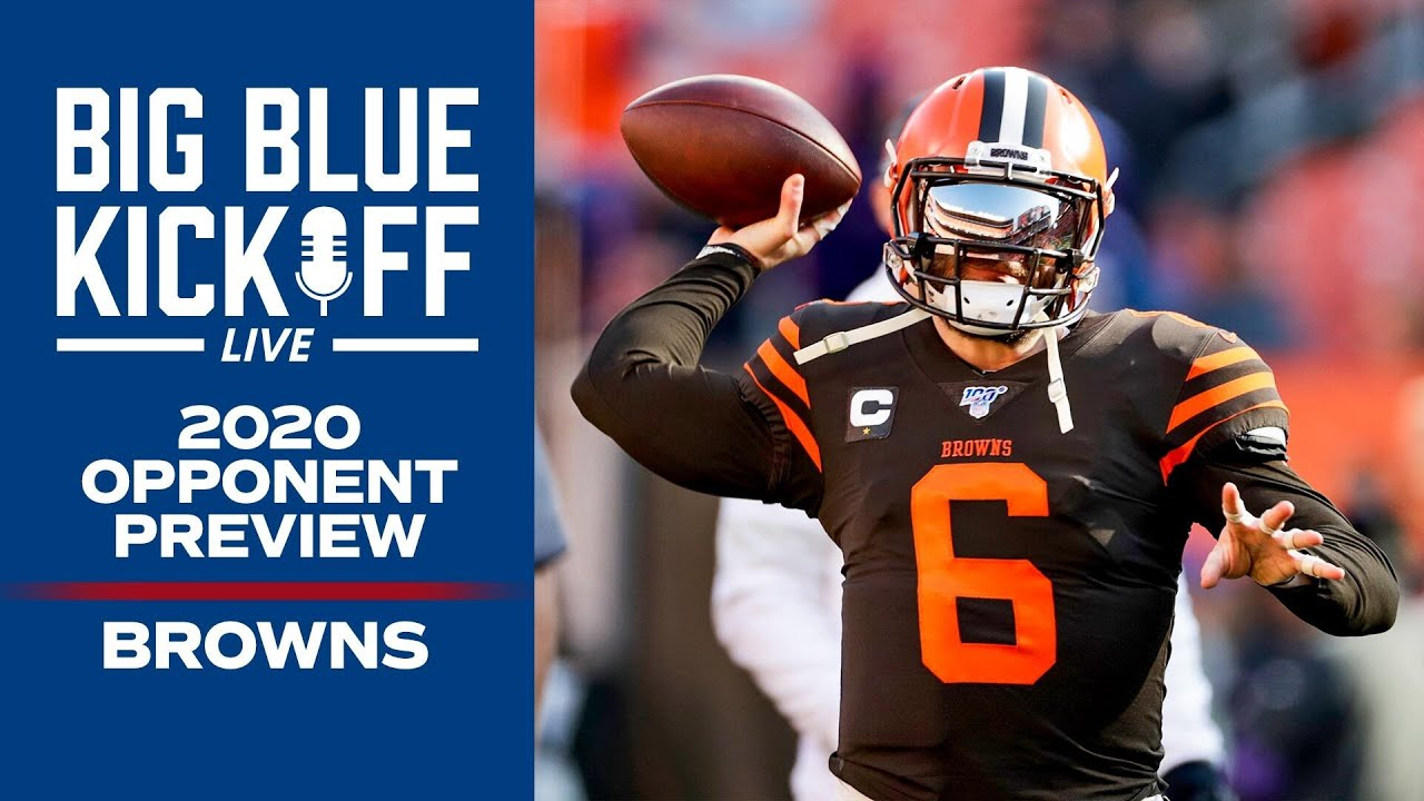 2020 Giants Opponent Preview: Browns Analysis with Nate Ulrich | New York Giants