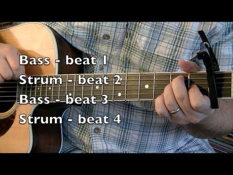 Johnny Cash Inspired Rhythm Guitar - Folsom Prison Blues lesson