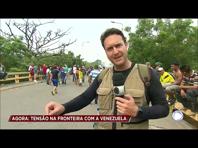 Cidade Alerta mostra confronto na fronteira entre Venezuela e Colômbia