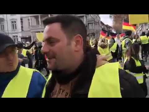 Antifasiszták támadtak a német sárgamellényesekre | Vadhajtások.hu