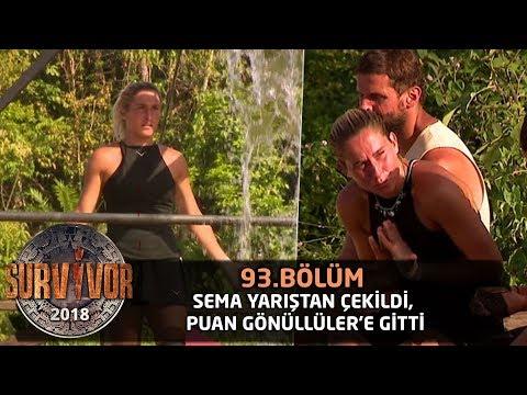 Survivor 2018 | 93. Bölüm |  Sema Yarıştan Çekildi, Puan Gönüllüler'e Gitti