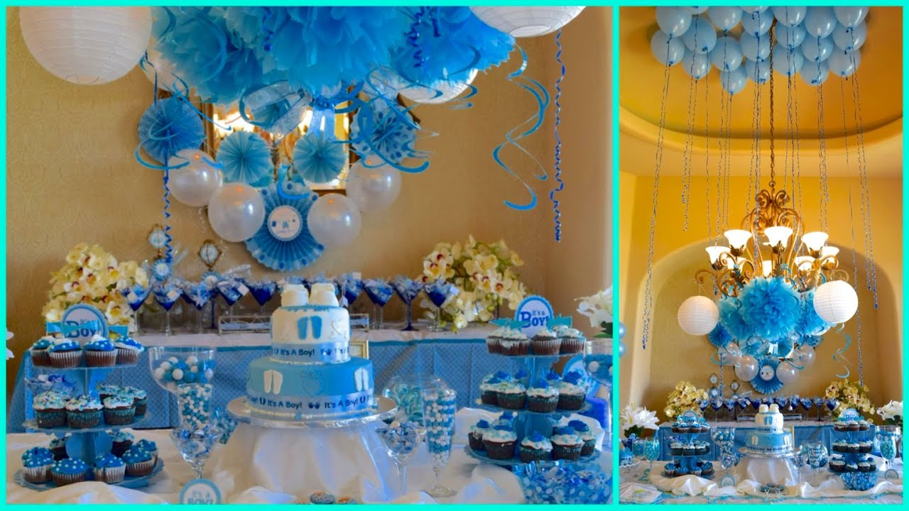 Girl Baby Shower Themes Yellow ~ Baby shower ideas for boy blue theme youtube