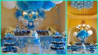 BABY SHOWER IDEAS 2015  FOR BOY BLUE THEME