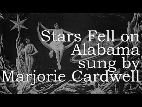 Marjorie Cardwell - STARS FELL ON ALABAMA w. Lyrics & Chords - From