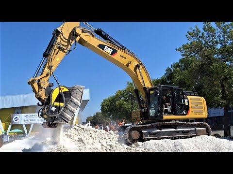 **NEW** CAT 336F XE Excavator with MB Crusher BF Demonstration