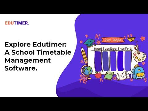 How Edutimer School Timetable Software Works?