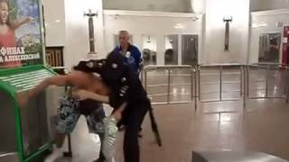 Fight in Subway with a Cop
