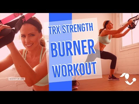 35 Minute TRX Strength Burner Workout--At Home Suspension Trainer Workout for Strength & Cardio