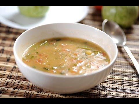 Sopa de habas con nopales - Receta de Cocina al Natural