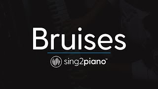 Bruises (Piano Karaoke Instrumental) Lewis Capaldi