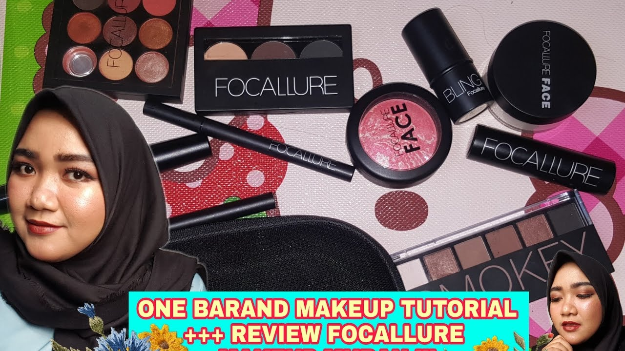 One Brand Makeup Tutorial Review Focallure Youtube Wardah Make Up Kit Professional