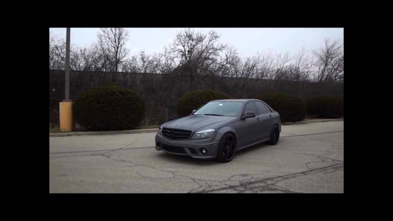 Beautiful Dark Charcoal Grey Paint Part - 11: Reventon Matte Grey Mercedes C63 By Auto Art - YouTube