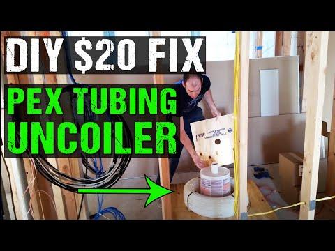 DIY pex tubing uncoiler for under $20 - YouTube