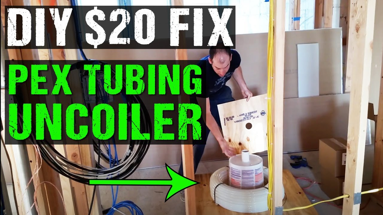 Diy Pex Tubing Uncoiler For Under 20 Youtube