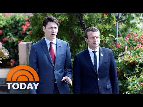 Justin Trudeau, Emmanuel Macron's Budding Bromance Has The Internet Swooning | TODAY