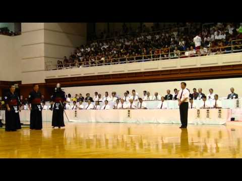 H23青森インターハイ剣道 男子団体決勝 小山対福大大濠 大将
