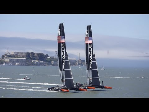 ORACLE TEAM USA - Taking On Two Boats