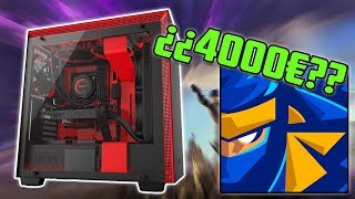 ¿¿Un PC de 4000€ para jugar al FORTNITE?? | El PC GAMING de Ninja