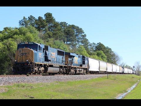Railfanning Houston, TX 3/14/17 ft military train, CSX MAC leader, & many good stuff!