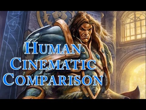 World Of Warcraft - Vanilla and Cataclysm Human Starting Zone Cinematic Comparison