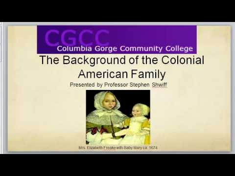 Background to Colonial American Families