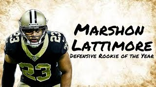 "Marshon Lattimore 2017 Rookie Highlights || ""Defensive Rookie of the Year"" ᴴᴰ"