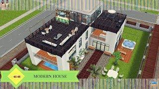 The Sims Freeplay Modern House Original Design YouTube
