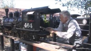 Repeat youtube video Firing up and running the D&RG K-27 2 1/2 scale live steam model