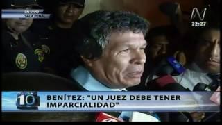 Heriberto Benitez declara tras orden de prisión preventiva contra Alejandro Toledo