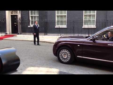 President Michael D Higgins arrives at Number 10 Downing St