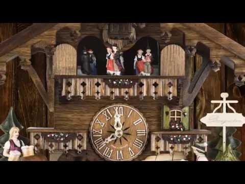 Original Schwarzwälder Kuckucksuhr 14-40-107 - YouTube