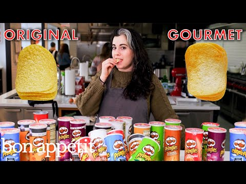 Pastry Chef Attempts to Make Gourmet Pringles | Gourmet Makes | Bon Apptit