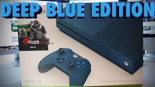 unboxing xbox one s gears of war 4 bundle deep blue edition